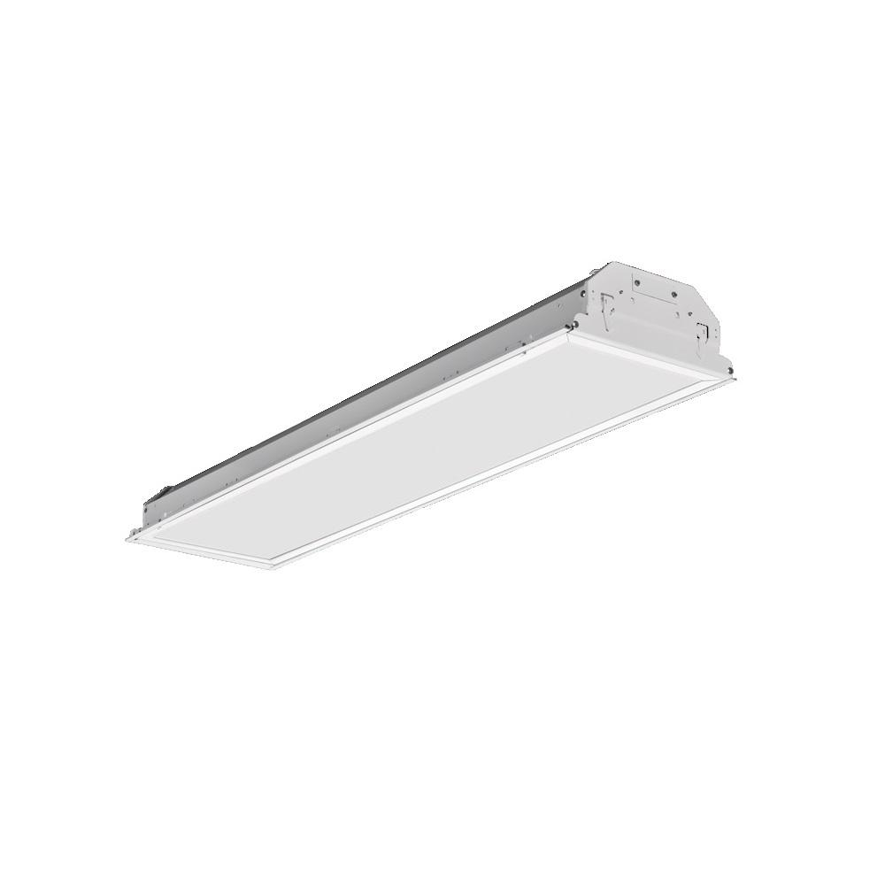 1 ft. x 4 ft. 40 Watt White Integrated LED Recessed Troffer