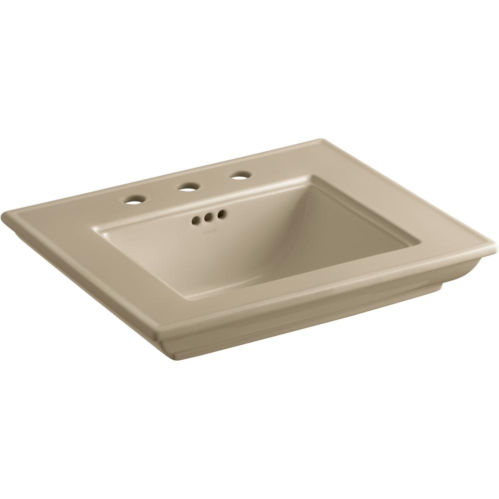 Memoirs Stately 24.5 in. Widespread Console Sink Basin in Mexican Sand