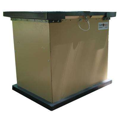 TuffBoxx BRUIN Series 100 Gal  Beige Galvanized Metal Bear-Proof Trash  Can/Storage Container