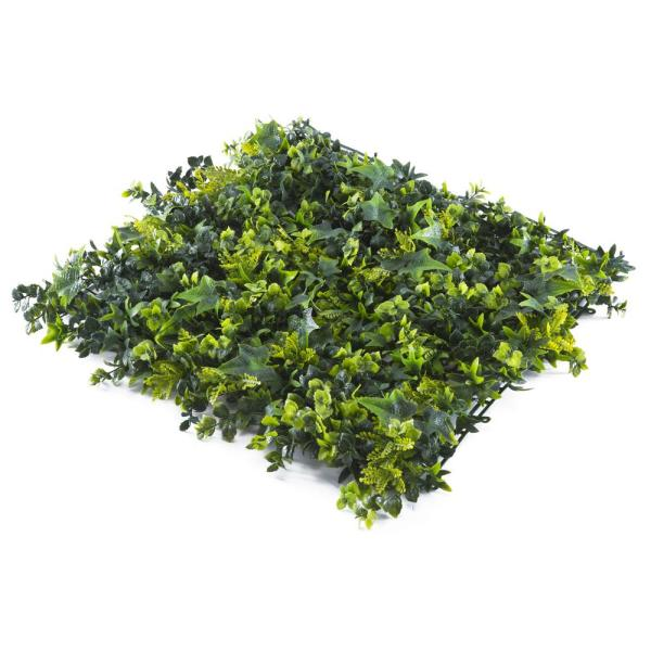 Colourtree 20 X 20 Green Yellow Motley Leaves Artificial Boxwood Hedges Living Wall Panels 12 Pcs Tbn2020 10 The Home Depot