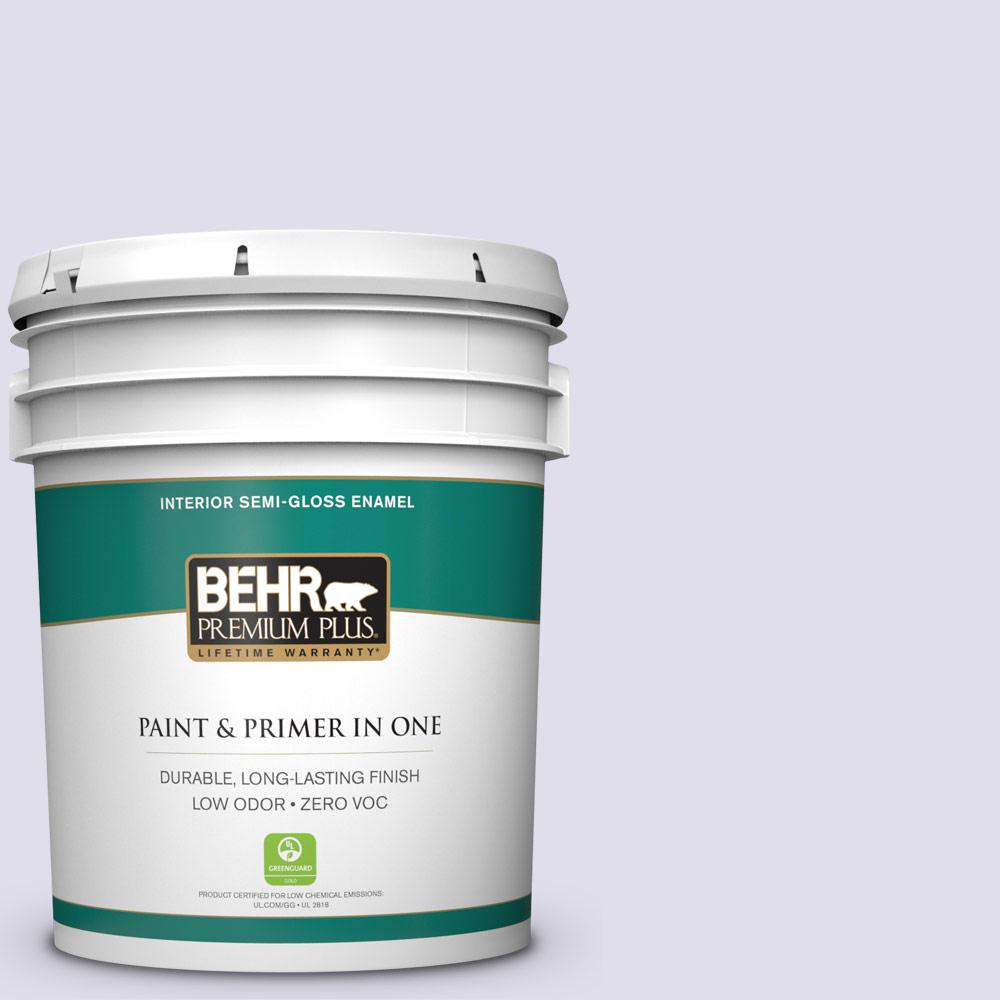 5-gal. #M560-1 Sweet Bianca Semi-Gloss Enamel Interior Paint