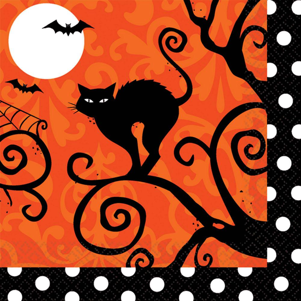 5 in. x 5 in. x Halloween Frightfully Fancy Beverage Napkin