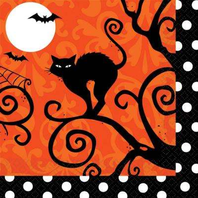 5 in. x 5 in. x Halloween Frightfully Fancy Beverage Napkin (36-Count 3-Pack)