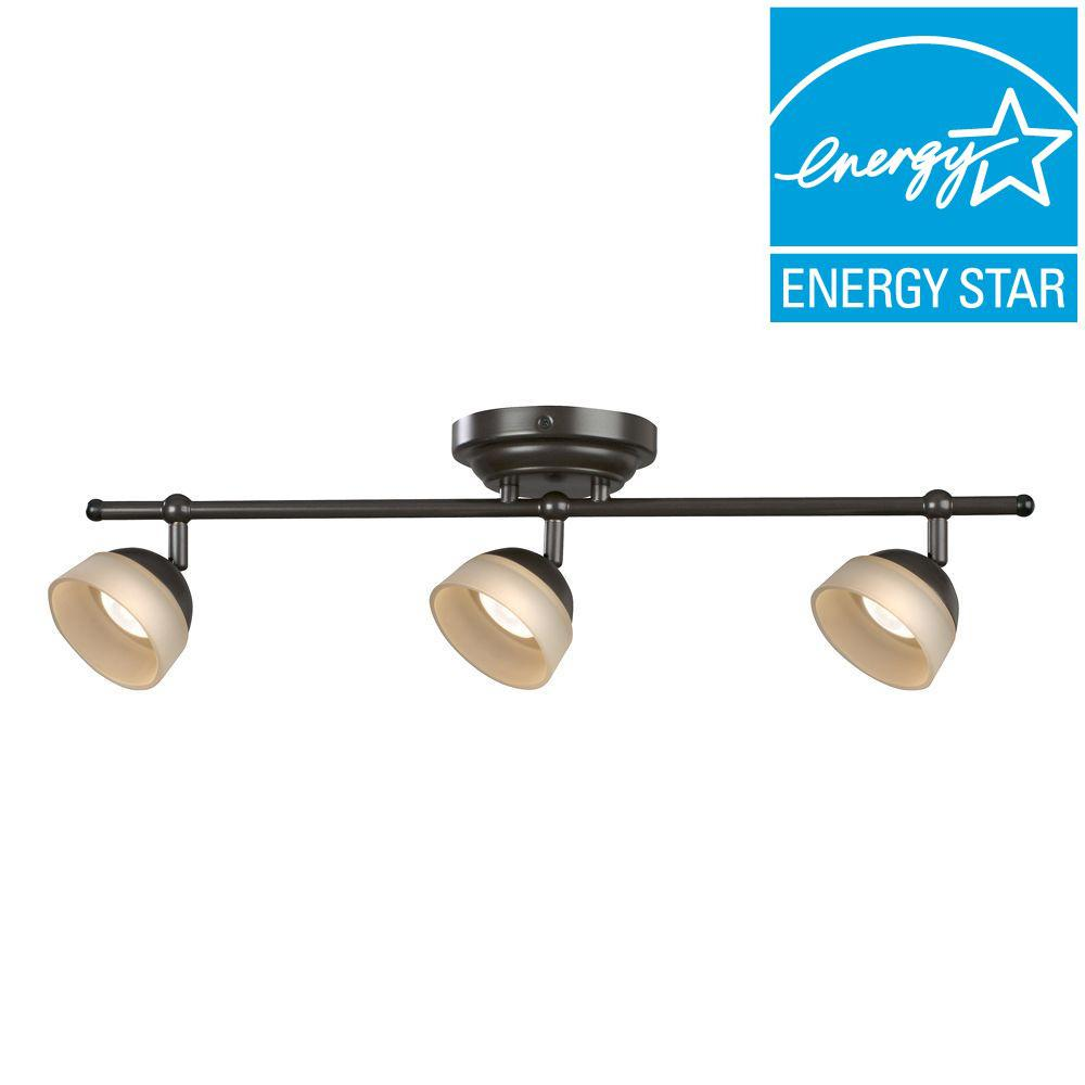 Aspects Madison 3-Light Oil-Rubbed Bronze Dimmable Fixed Track Lighting Kit