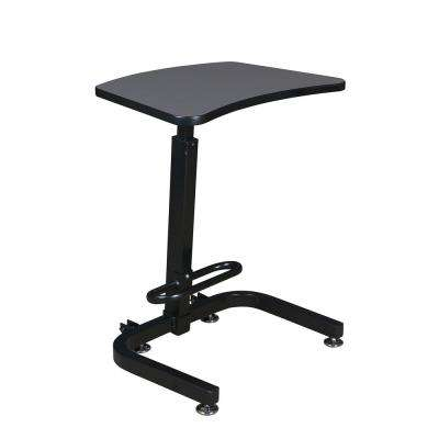 Brody Grey Sit-Stand Desk with One-Touch Height Adjustment
