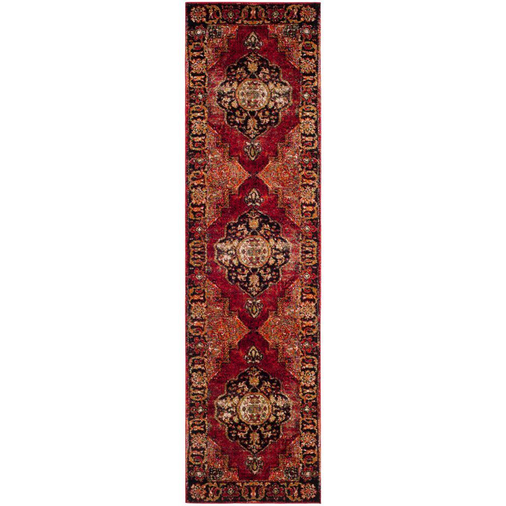 Safavieh Vintage Hamadan Red/Multi 2 ft. x 10 ft. Runner Rug