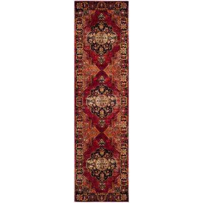 Vintage Hamadan Red/Multi 2 ft. x 10 ft. Runner Rug