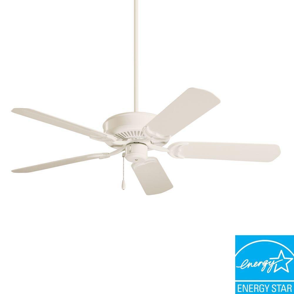 Illumine Non-Lit 52 in. Outdoor Summer White Ceiling Fan