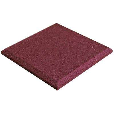 2 in. x 24 in. x 24 in. Studiofoam Panels - Burgundy (4-Pack)