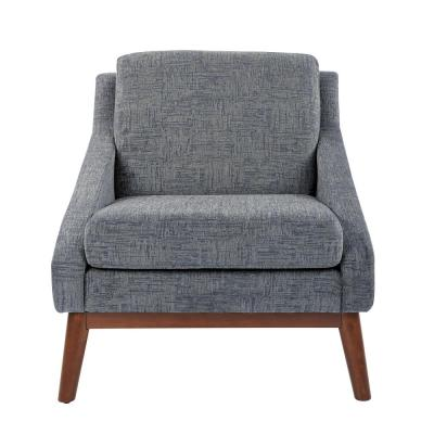Davenport Club Chair in Navy with Coffee legs