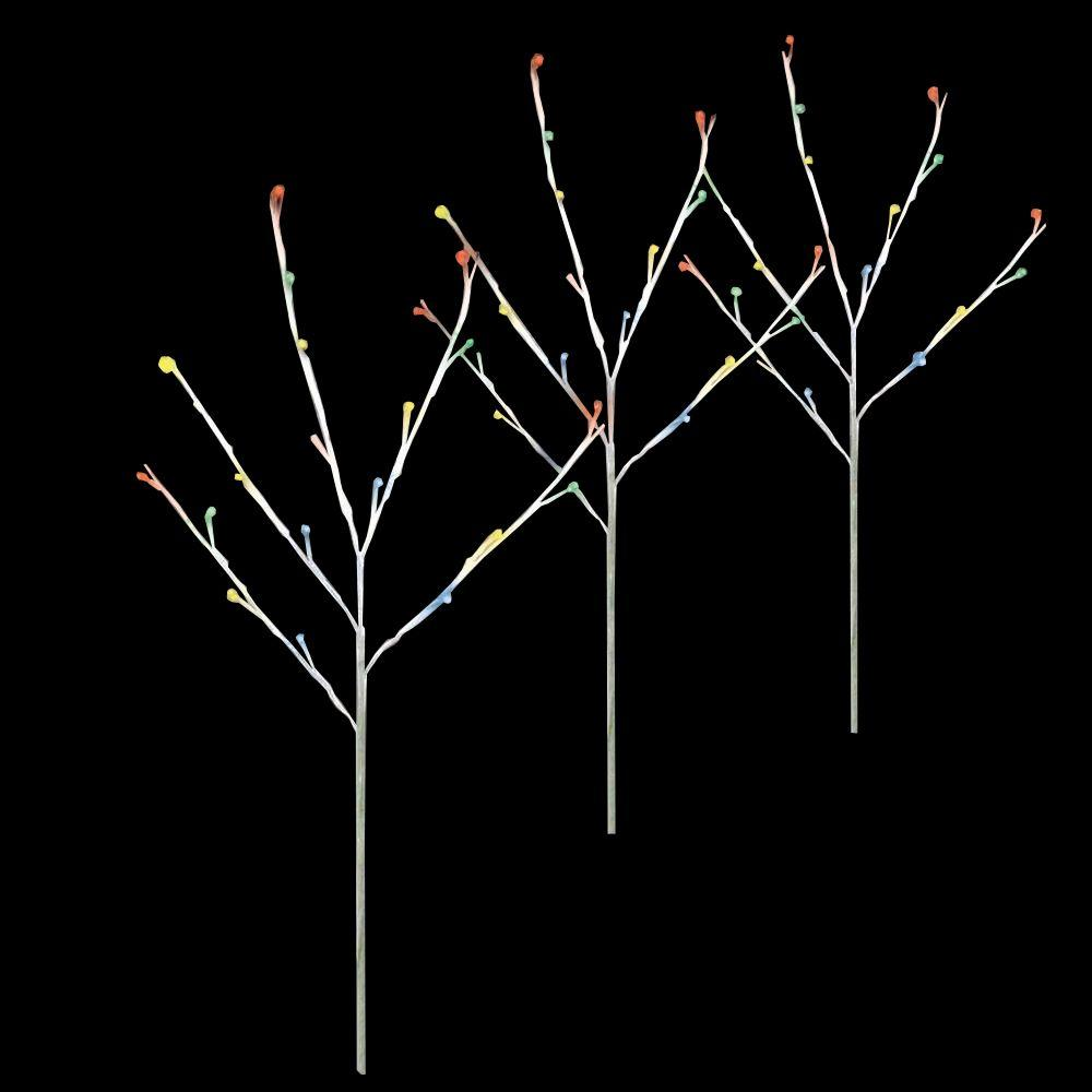 null Twig Tree Multi-Color Pathmarkers (Set of 3)