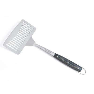 Stainless Steel Large Spatula with Pakkawood Handle