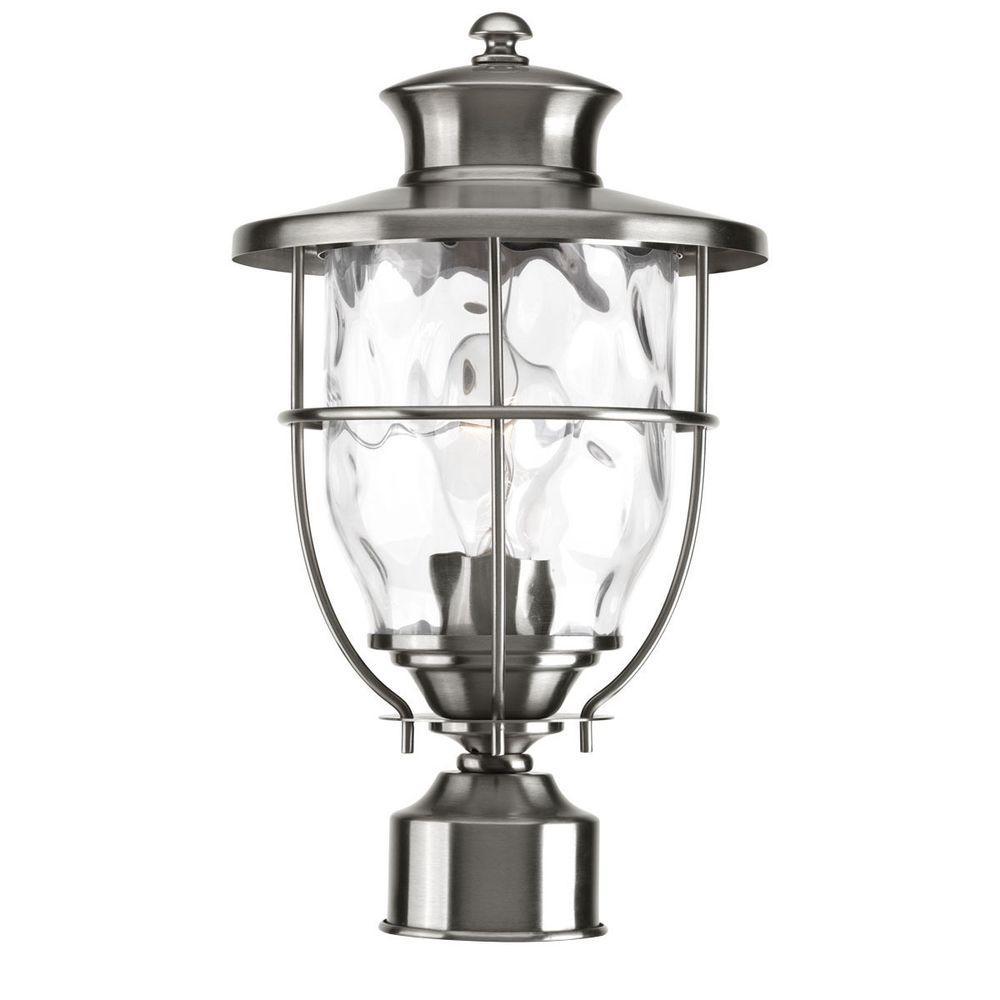 Progress Lighting Beacon Collection Outdoor Stainless Steel Post Lantern