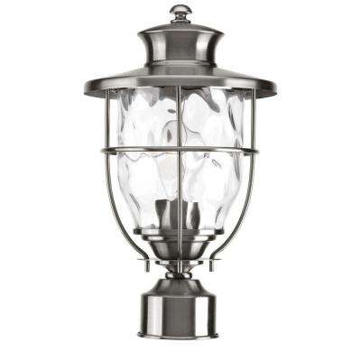 Post lighting outdoor lighting the home depot beacon collection outdoor stainless steel post lantern aloadofball Choice Image