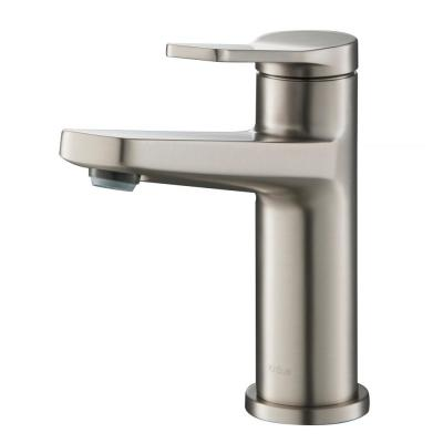 Indy Single Hole Single-Handle Basin Bathroom Faucet in Spot Free Stainless Steel