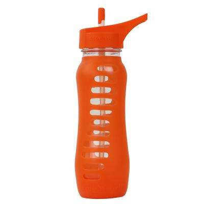 22 oz. Surf Sport Single Wall Glass Bottle with Straw Top - Orange Slice