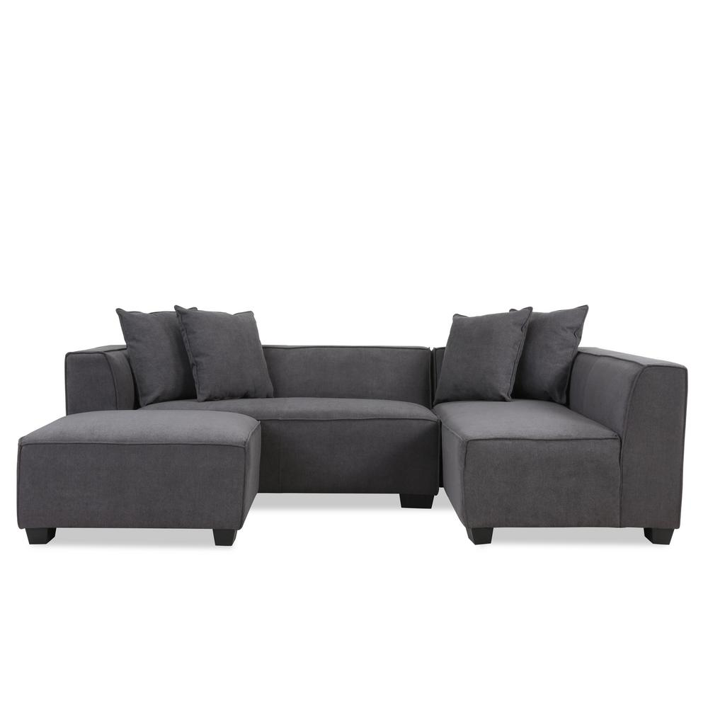 This Review Is From Phoenix Sectional Sofa With Ottoman In Dark Gray Plush Low Pile Velvet