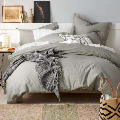 3-Piece Organic Percale Duvet Cover Set