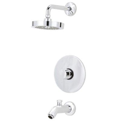 Elba Pressure Balance Single-Handle 1-Spray Tub and Shower Faucet in Chrome (Valve Included)