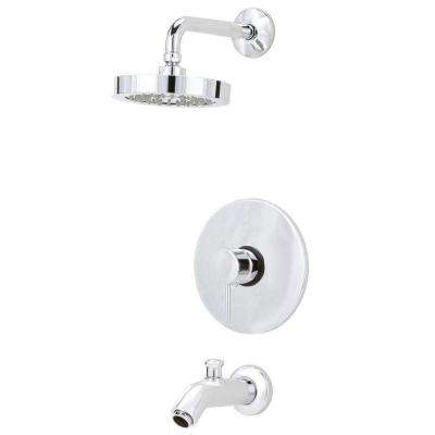 Elba Pressure Balance Single-Handle 1-Spray Tub and Shower Faucet in Chrome