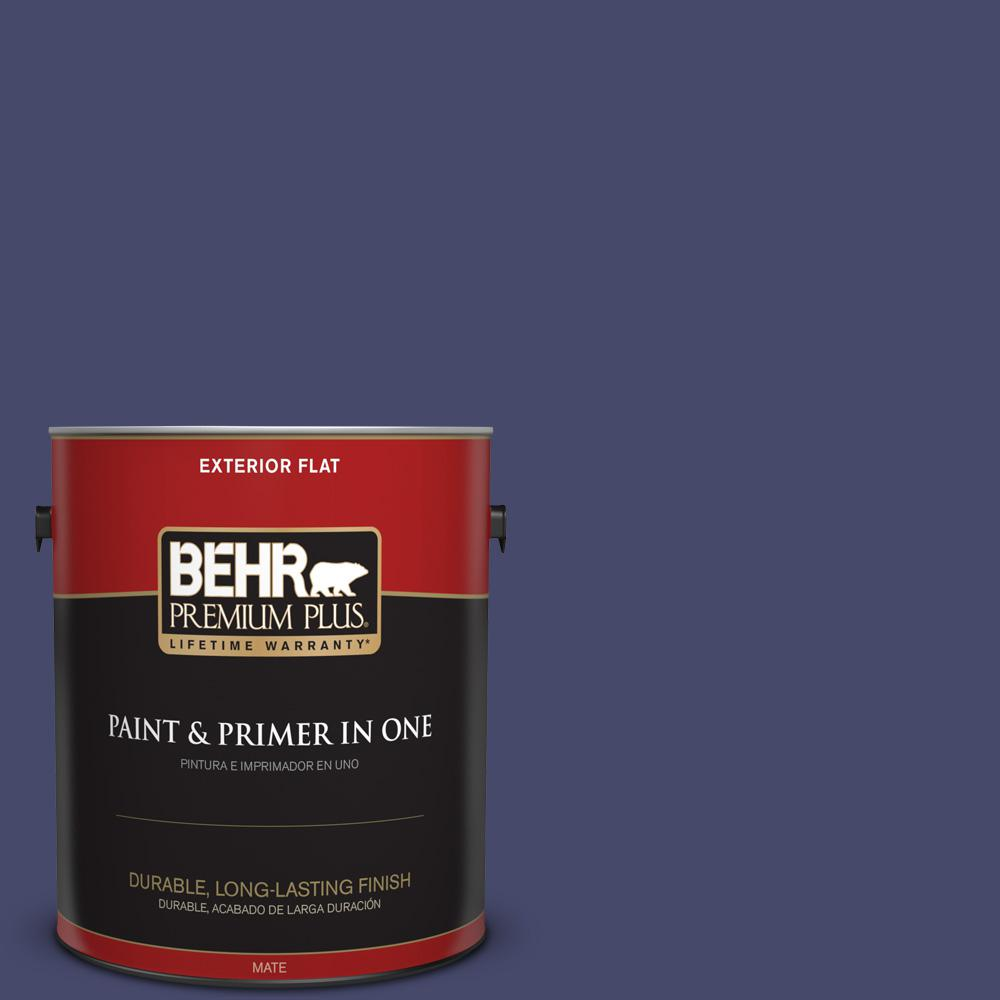 1 gal. #PPU15-01 Nobility Blue Flat Exterior Paint