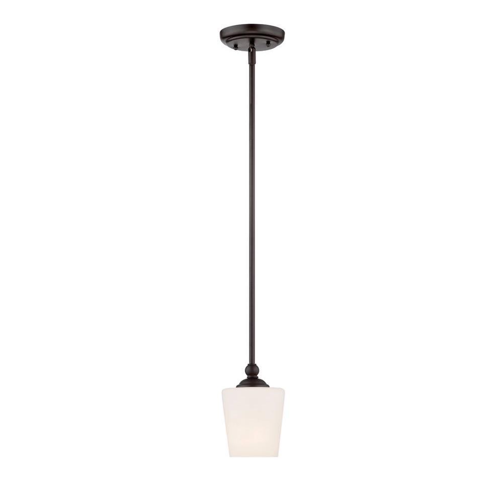 Darcy 1-Light Oil-Rubbed Bronze Mini Pendant