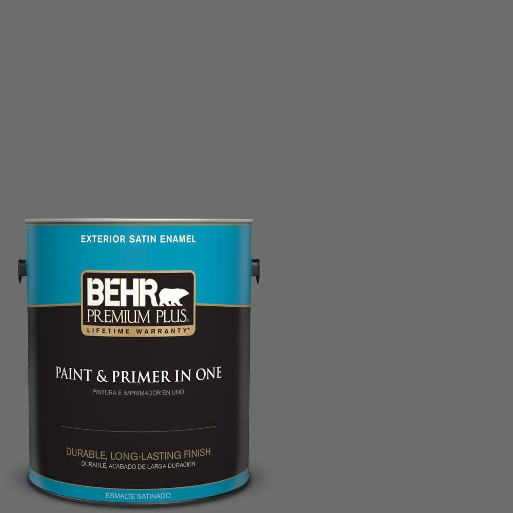 1 gal. #HDC-AC-17A Welded Iron Satin Enamel Exterior Paint