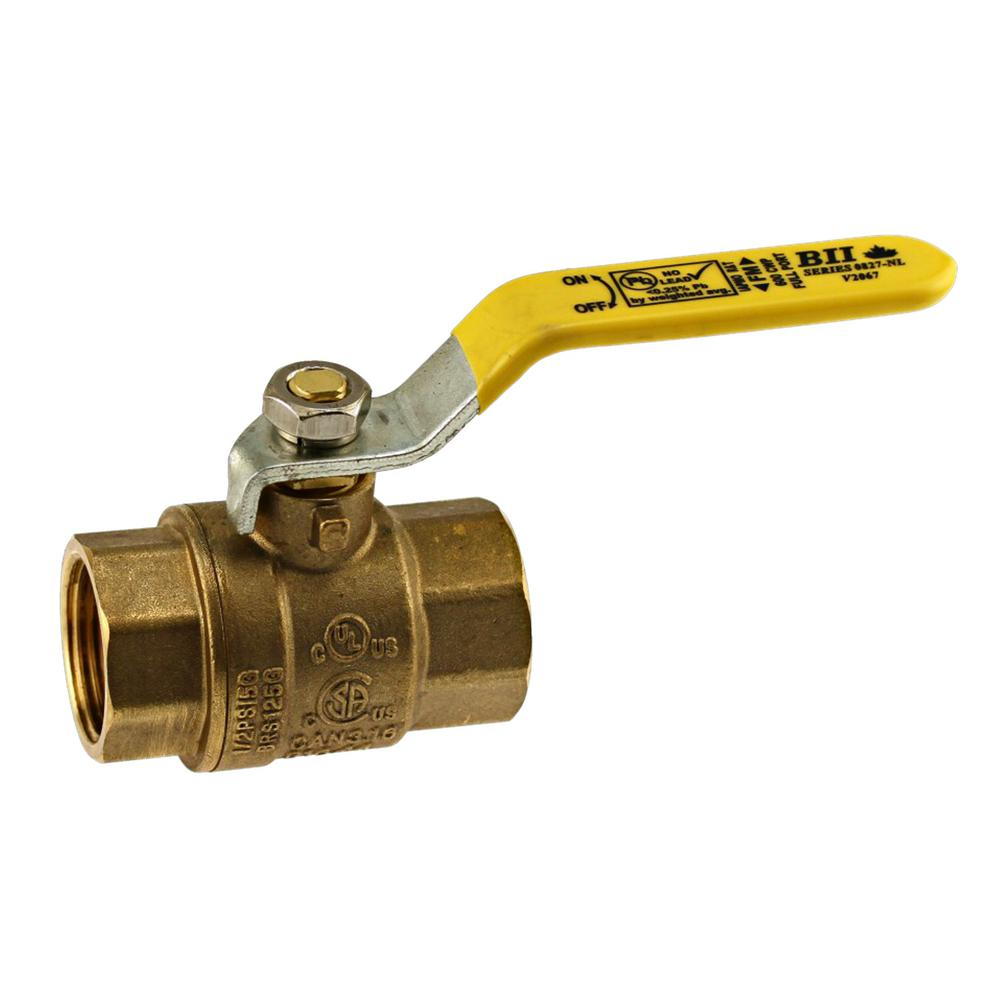 3 in. FPT x FPT Brass Ball Valve