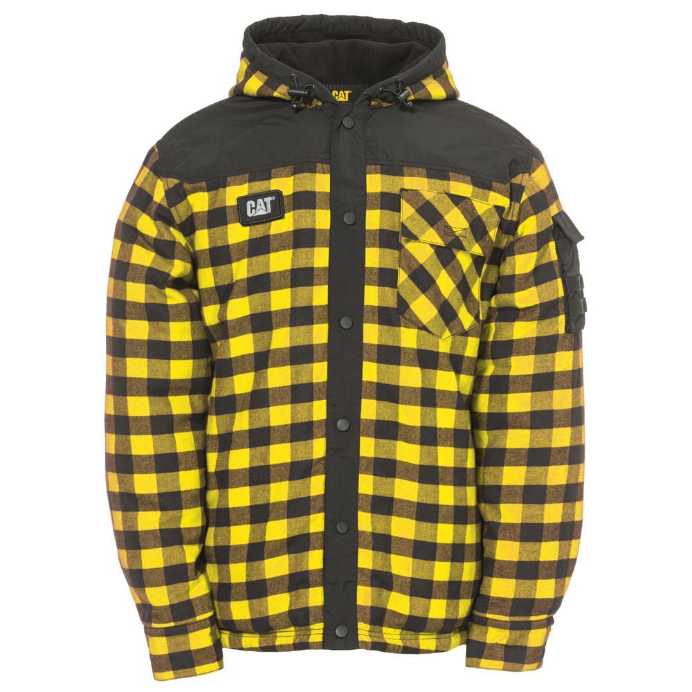 Sequoia Men's Large Yellow Buffalo Plaid Cotton Shirt Jacket
