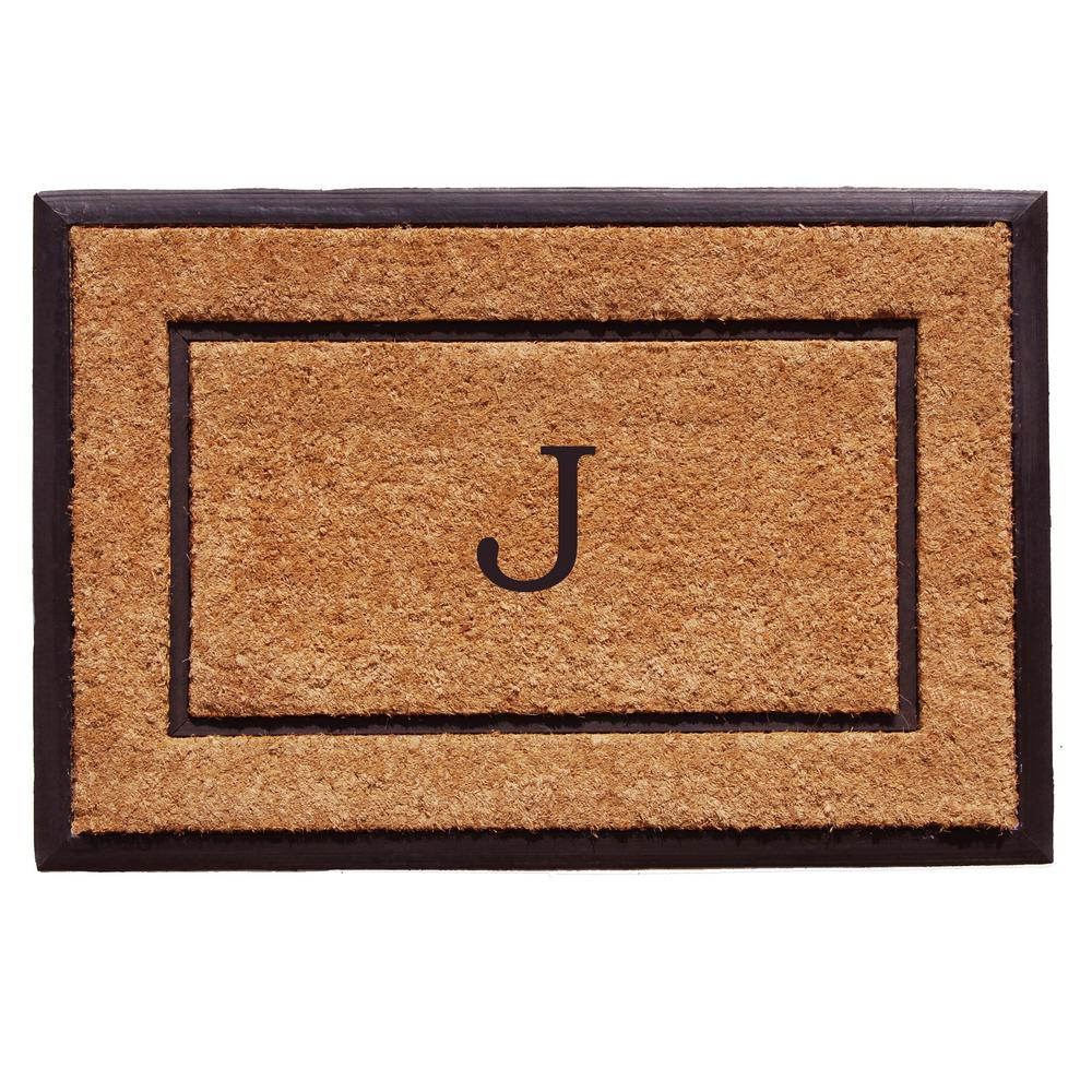 The General 24 in. x 36 in. Monogram J Door Mat