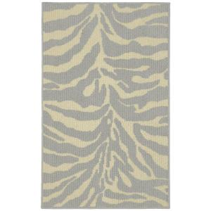 Garland Rug Safari Silver/Ivory 2 ft. 6 inch x 3ft. 10 inch Accent Rug by Garland Rug