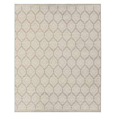 Taurus Grey Cream 8 ft. x 10 ft. Indoor Area Rug