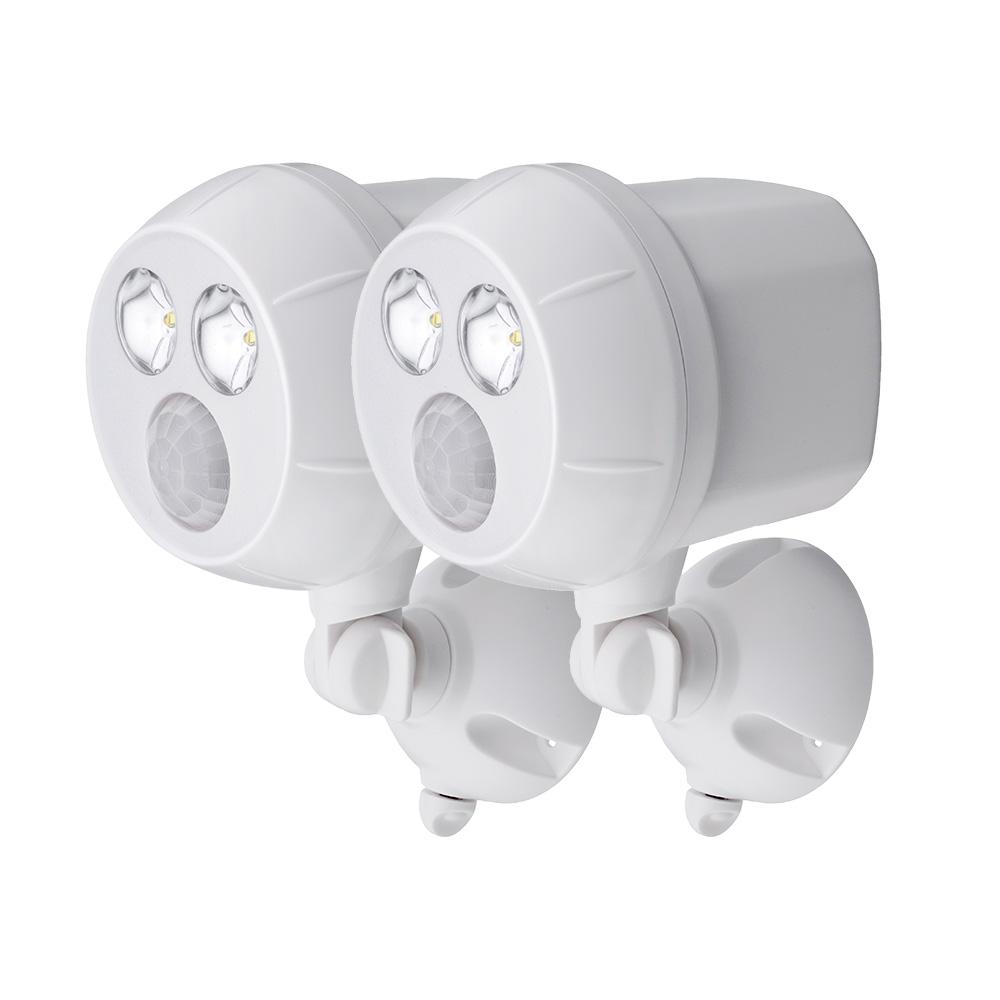 Mr Beams Wireless 120-Degree White Motion Activated Outdoor ...