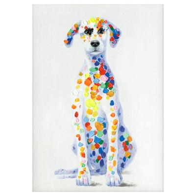 """Whimsical """"Sun Loving Doggy"""" By Unknown Artist Canvas Wall Art"""