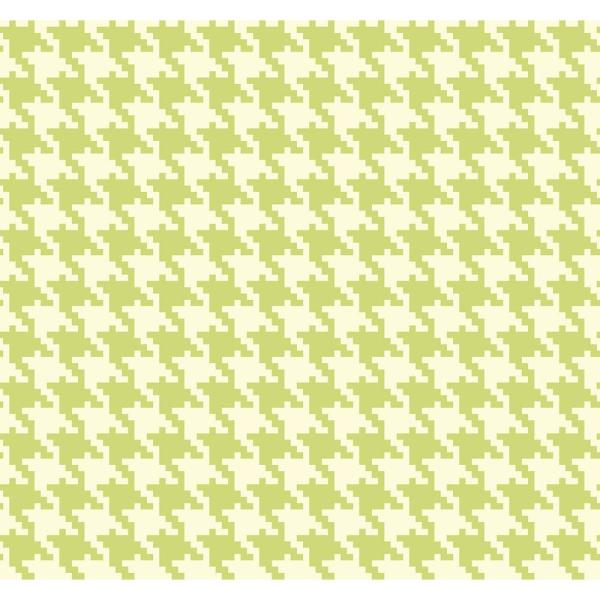 Seabrook Designs Houndstooth Green And White Checkered Wallpaper