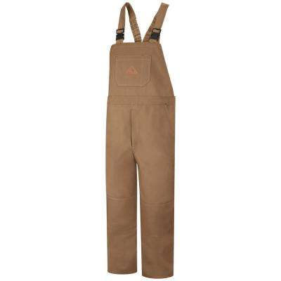 EXCEL FR ComforTouch Men's 2X-Large (Tall) Brown Duck Duck Unlined Bib Overall