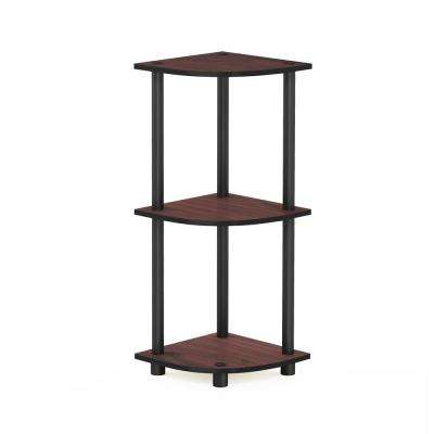 Turn-N-Tube Dark Cherry 3-Shelf Corner Open Shelf