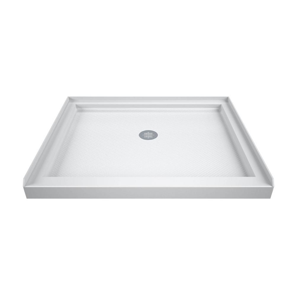 Dreamline Slimline 36 In X 36 In Single Threshold Shower Base In