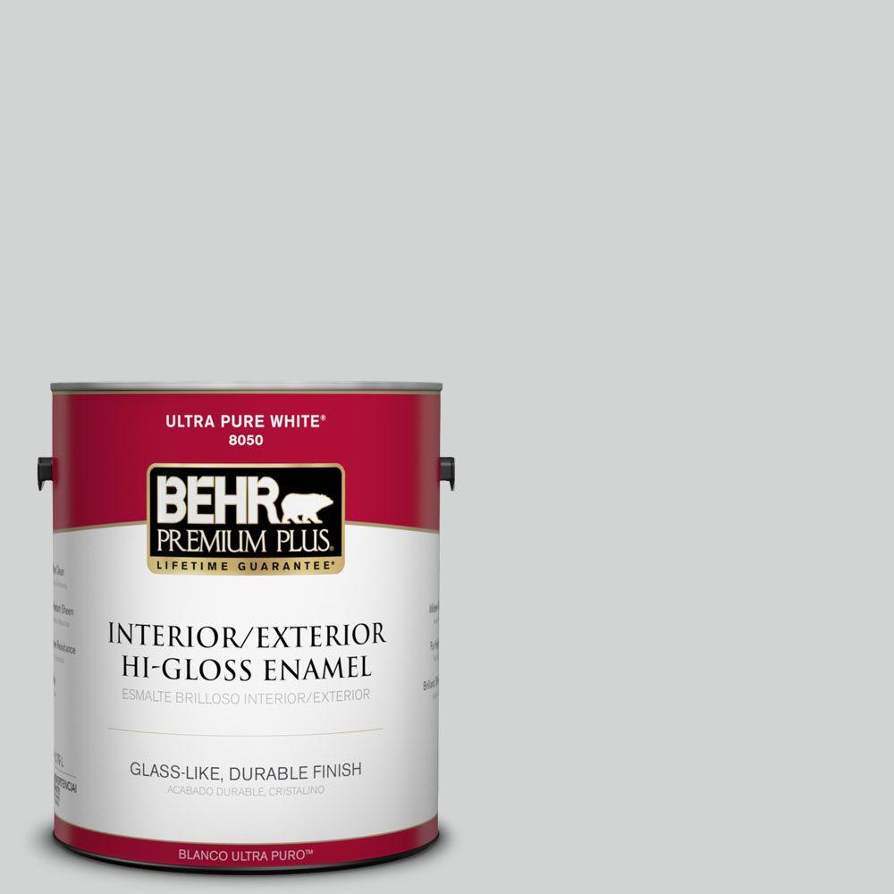 BEHR Premium Plus 1-gal. #780E-3 Sterling Hi-Gloss Enamel Interior/Exterior Paint