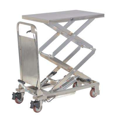 220 lbs. 17.5 in. x 27 in. Partial Stainless Steel Elevating Cart