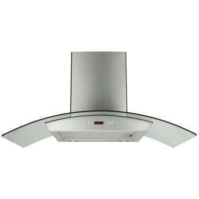 30 in. Convertible Wall Mount Decorative Range Hood in Stainless Steel