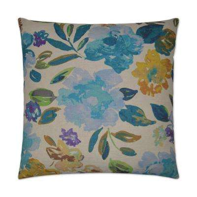 Impression Blue Feather Down 24 in. x 24 in. Decorative Throw Pillow