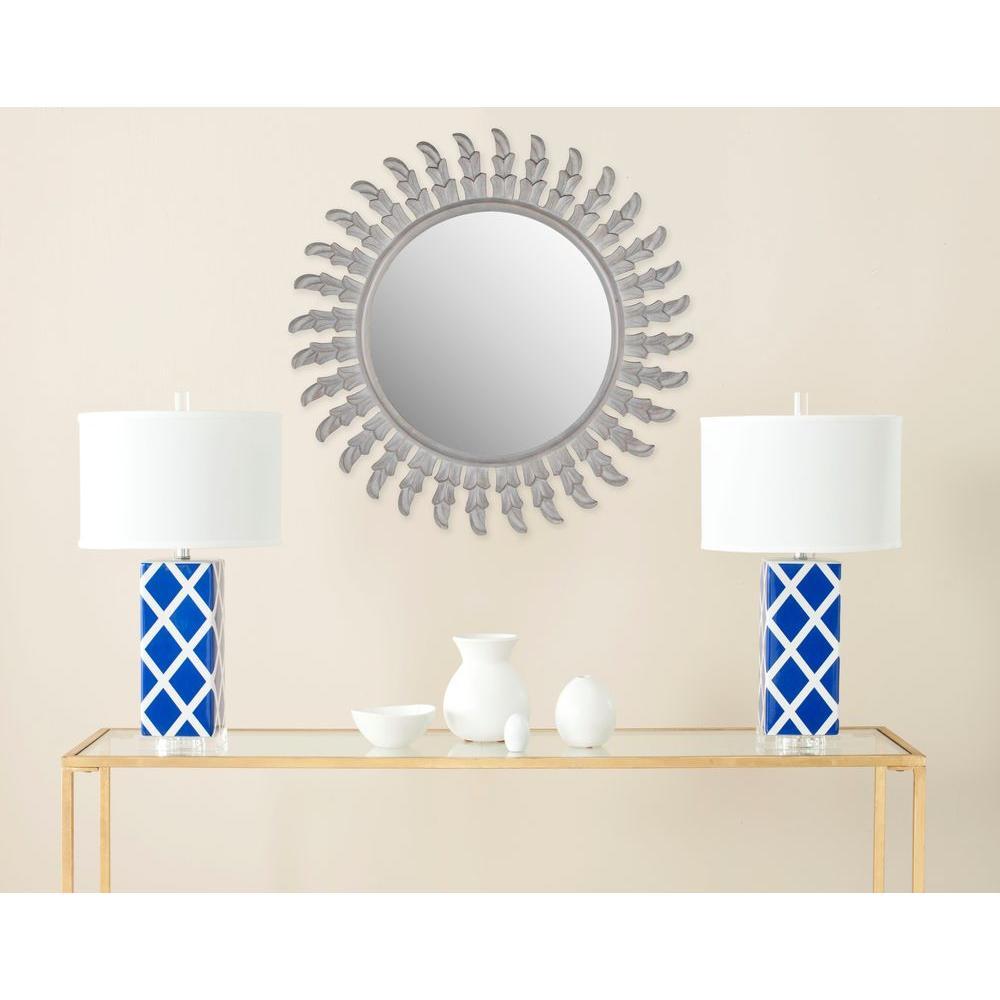Inca Sun 32 in. x 32 in. solid Wood Framed Mirror