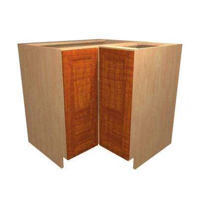 Dolomiti Ready to Assemble 36 x 34.5 x 24 in. Base Corner Cabinet with 2 Doors in Cognac