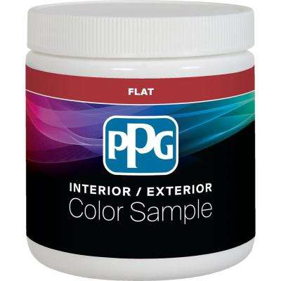 8 oz. Pure White/Base 1 Flat Interior Paint Sample with Primer