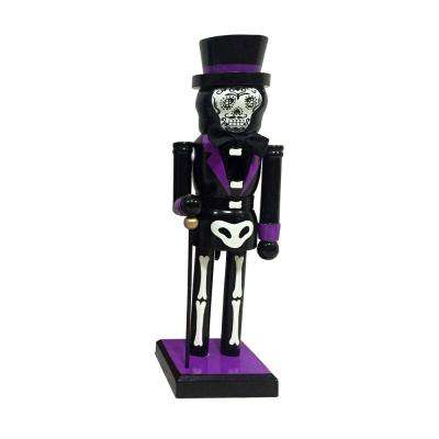 10 in. Bones Nutcracker with Cane