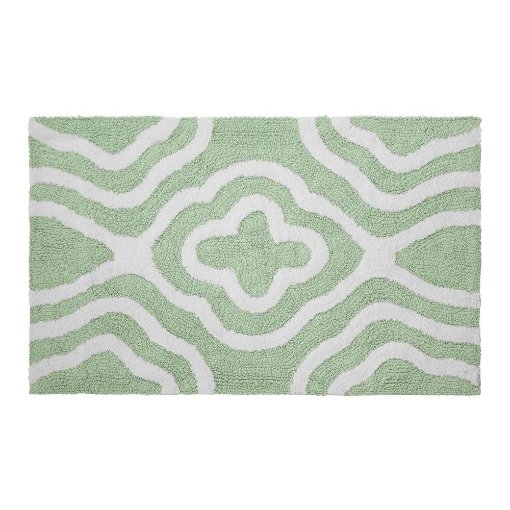 Reversible Cotton Soft Giri Mint 21 in. x 34 in. Bath