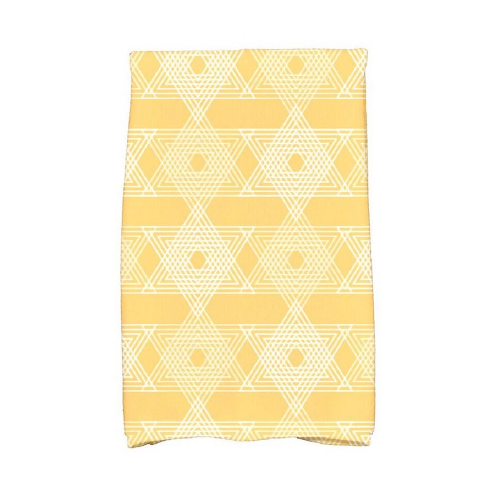 E by Design 16 in. x 25 in. Yellow Star Light Holiday Geometric Print Kitchen Towel Spice up your decor with stylish kitchen towels. E By Design's kitchen towel collection includes a variety of fashionable and aesthetic designs you're sure to love. Our kitchen towels are just what you need to complete your kitchen decor. Color: Yellow.