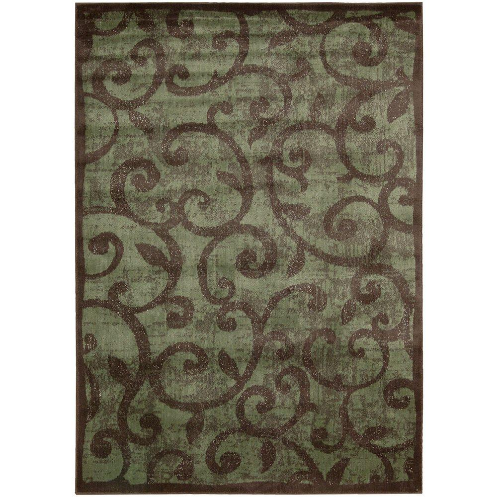 Nourison Overstock Expressions Brown 5 Ft 3 In X 7 Ft 5