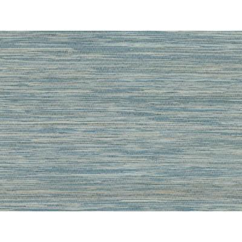 72 sq. ft. Pattaya Blue Grasscloth Wallpaper